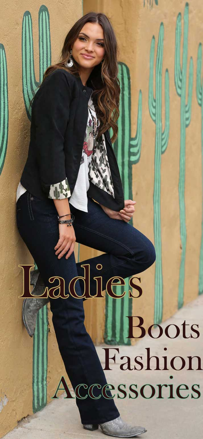 ladies and womens western fashion, boots, and accessories