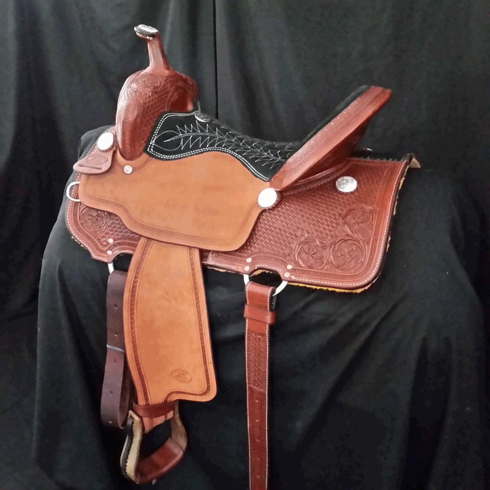 Billy Cook Barrel Racing Saddle - Sulphur, Oklahoma #1550