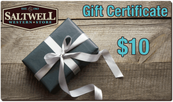 $10 Saltwell Western Store Gift Certificate
