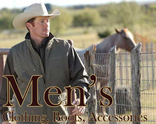 men's western clothing, boots, and accessories
