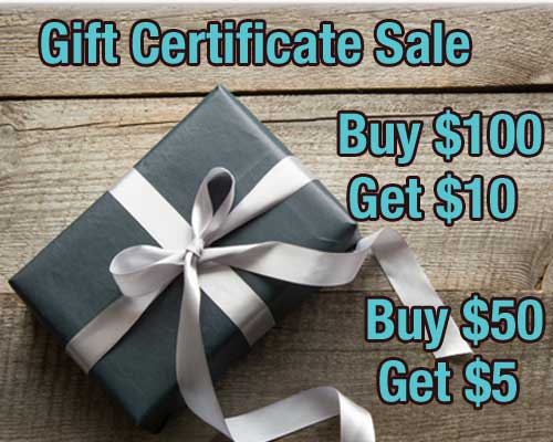 BOGO Gift Certificates